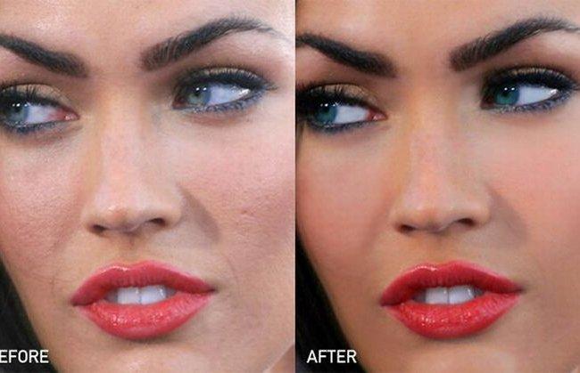 Меган фокс до и после фотошопа 10 фото