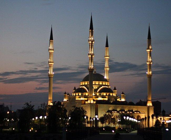 Фото мечеть ночью