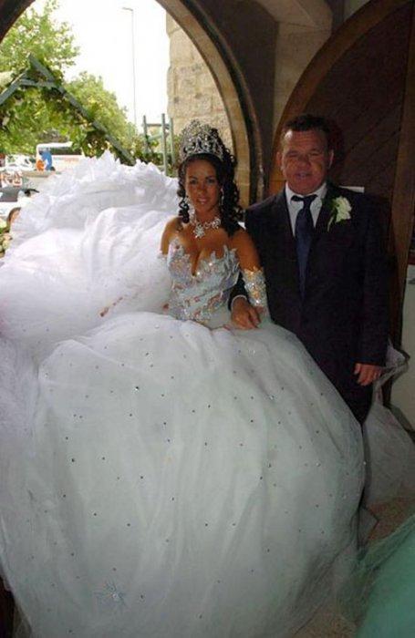 Самые нелепый свадебные платья