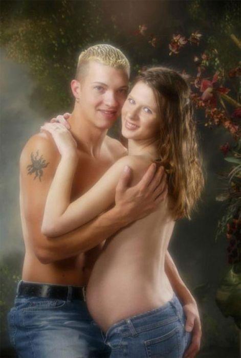 Странные фотографии беременных (41 фото)