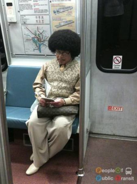 Странные люди в метро (89 фото)