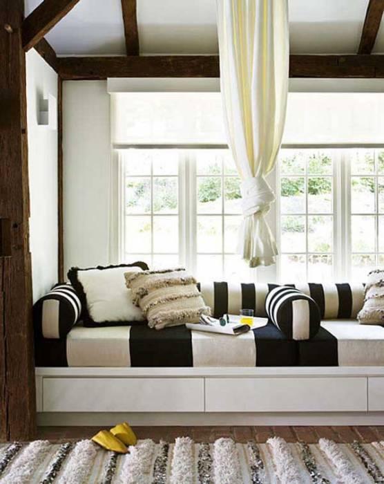 Как сделать диван в эркер