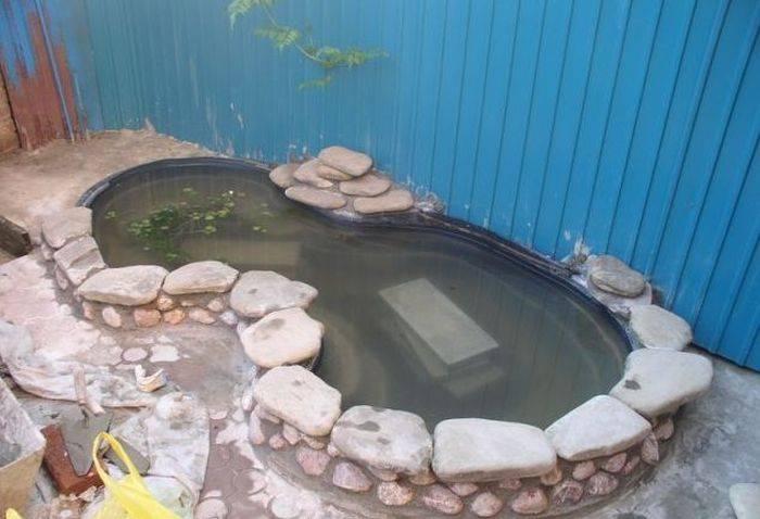 Небольшой водоем как сделать