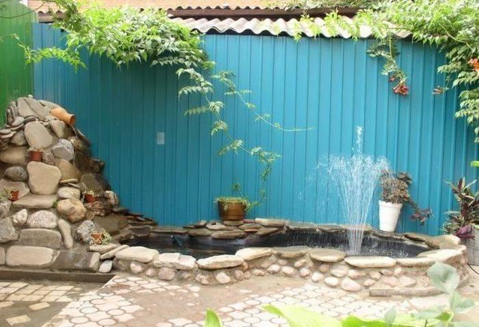 Как сделать фонтан на даче своими руками фото пошаговая инструкция