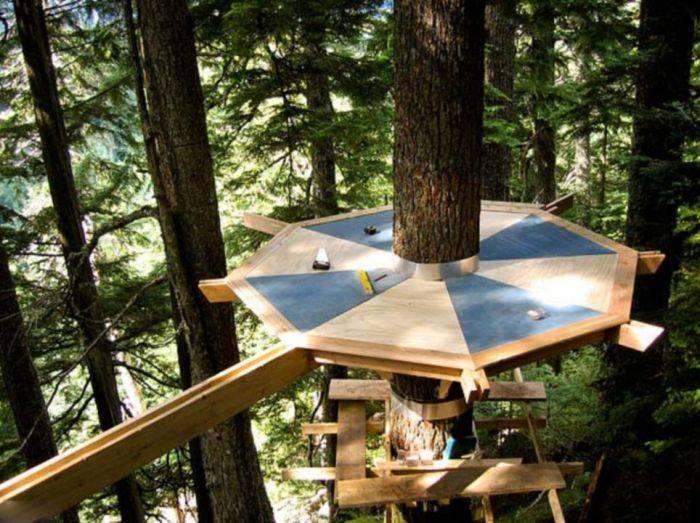Сделать домик в лесу своими руками