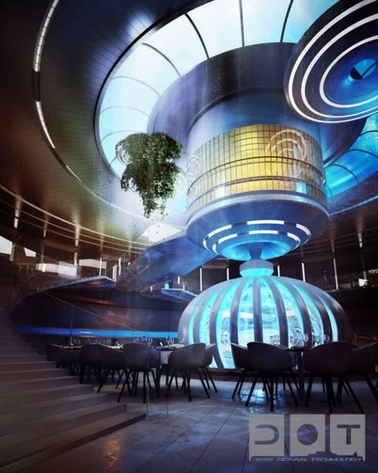 Подводный отель в Дубае (10 фото)