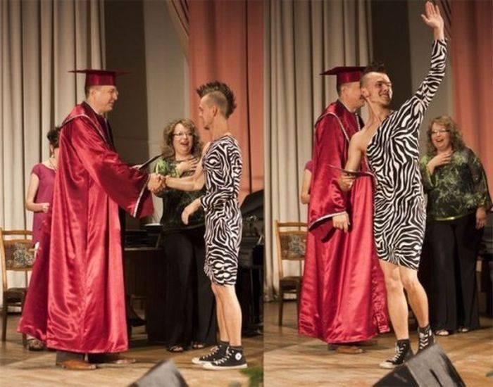 Необычная одежда на защиту диплома Необычная одежда на защиту диплома 4 фото