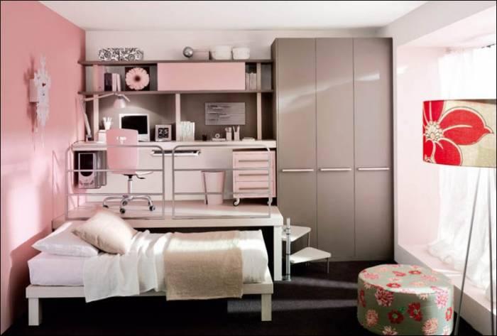 Экономим пространство в детской комнате (12 фото)