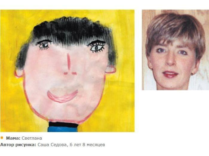 Портреты которые нарисовали дети