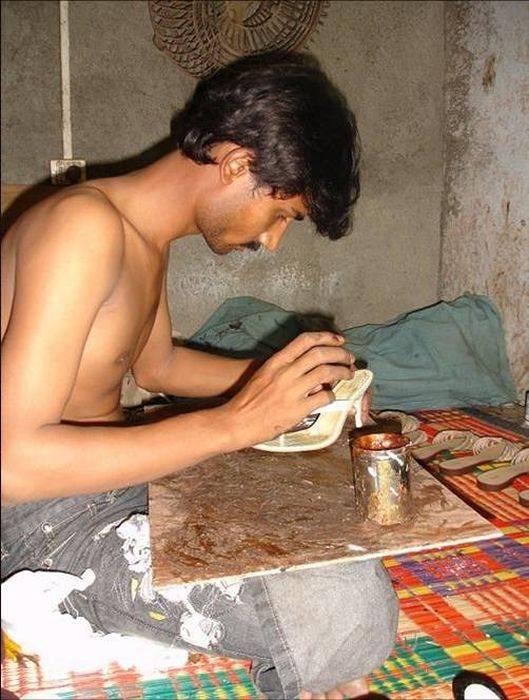 Kako napraviti glamurozne cipele u Indiji (17 fotografija)