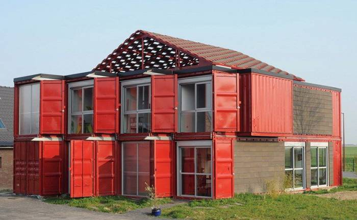 Kuća od kontejnera (18 fotografija)