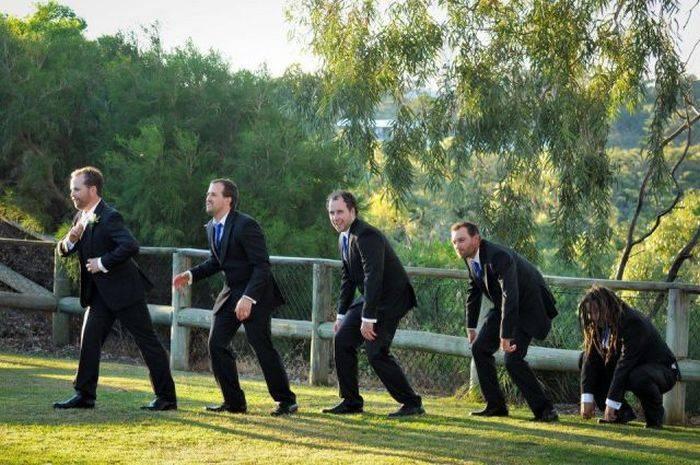 Fotobombe vjenčanja (62 fotografije)