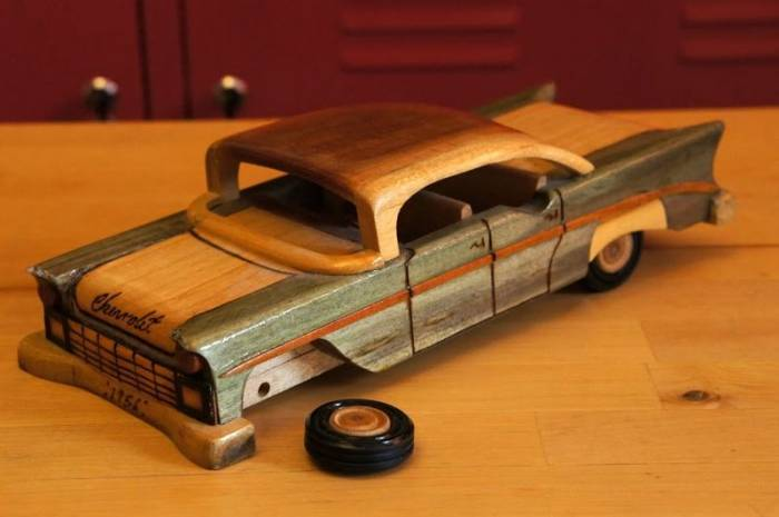 Как сделать машину с дерева