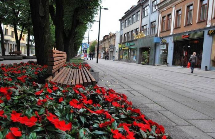Аллея Лайсвес в городе Каунас, Литва (18 фото)