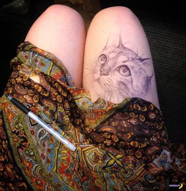 Рисунки на ноге