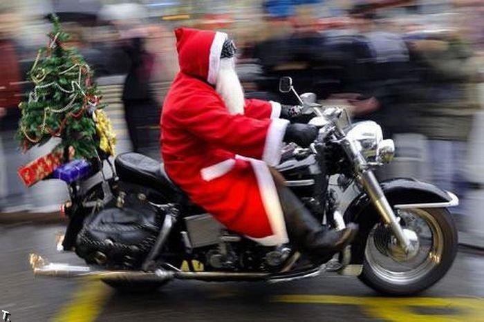 Smiješni Djed Mraz (28 fotografija)