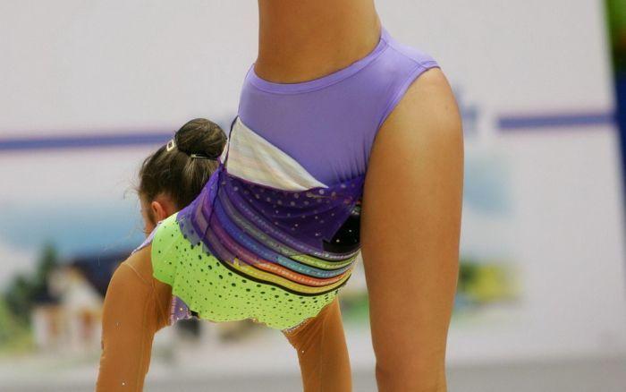 Фото трусиков у гимнасток замечательная