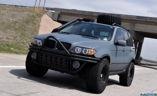 Суровый тюнинг bmw x5 в стиле милитари