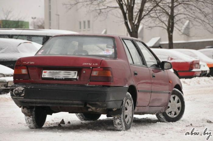 История покупки и ремонта автомобиля за $1000, Hyundai Pony (23 фото)