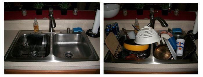 Kada je žena kod kuće, a kad je na putu (7 fotografija)
