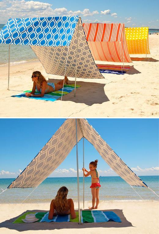 Как сделать укрытие от солнца на пляже - Модная мама