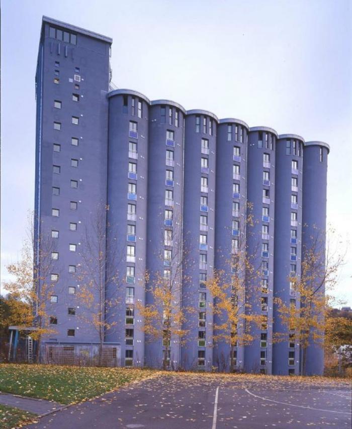 В Осло старый зерновой элеватор перестроили в общежитие (14 фото)