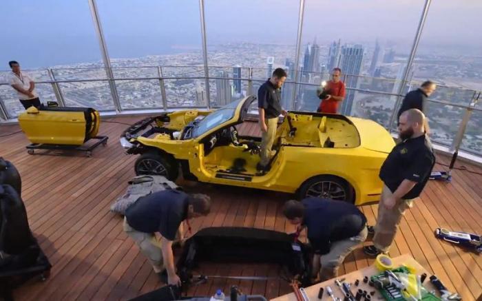 Ford Mustang на вершине мира (9 фото + 1 видео)