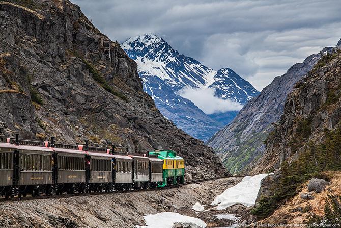 Путешествие по самой красивой железной дороге Аляски (47 фото)