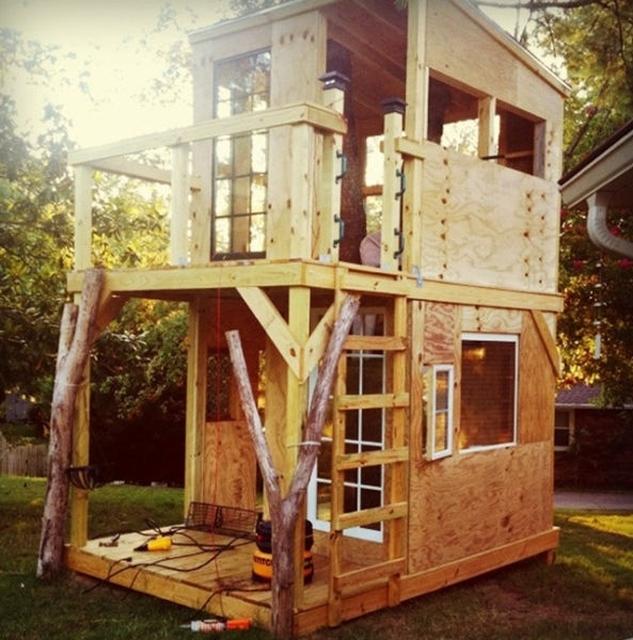Как сделать дом на дереве своими руками для детей во дворе