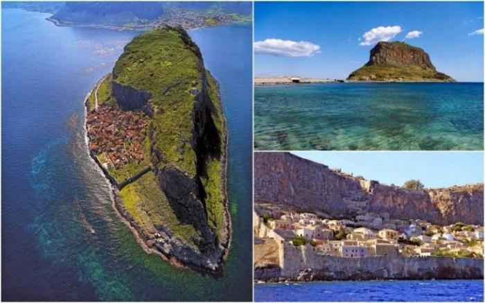 Монемвасия — скалистый остров у восточного побережья