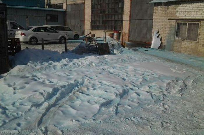 В нескольких поселках Челябинской области выпал голубой