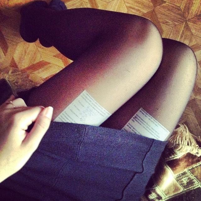 как сделать юбку со шпаргалками