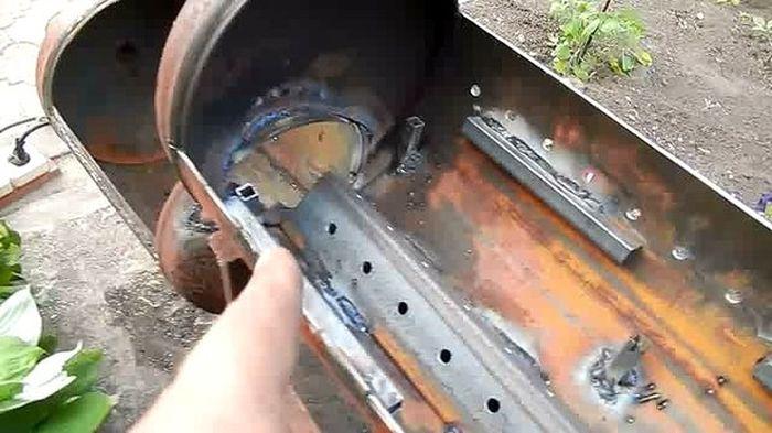 Мангал-коптильня из газового баллона своими руками чертежи и фото
