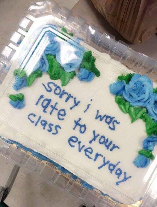 Оригинальное извинение перед преподавателем (4 фото)