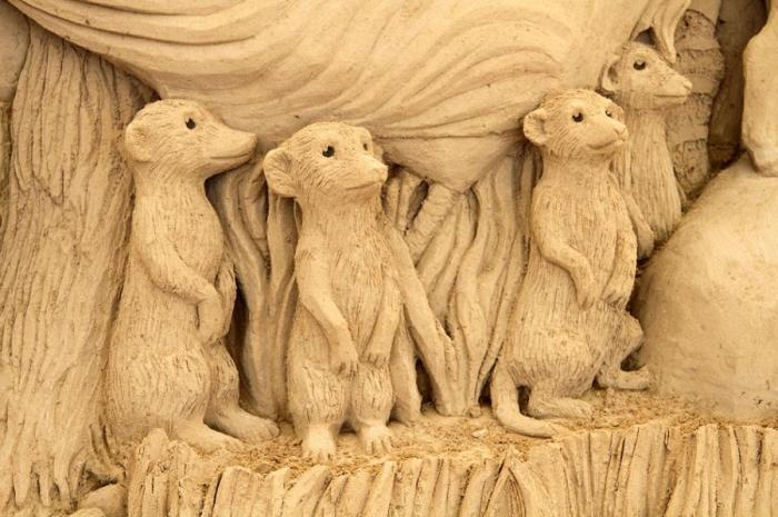 Музей песчаных скульптур в Японии (21 фото)