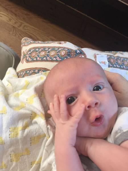 Ребенок с необычайно развитой мимикой (31 фото)