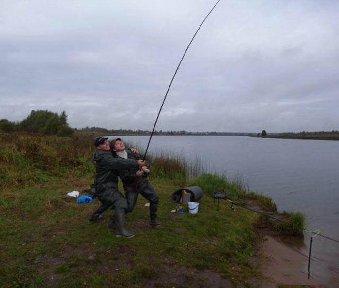 курьёзы на рыбалке
