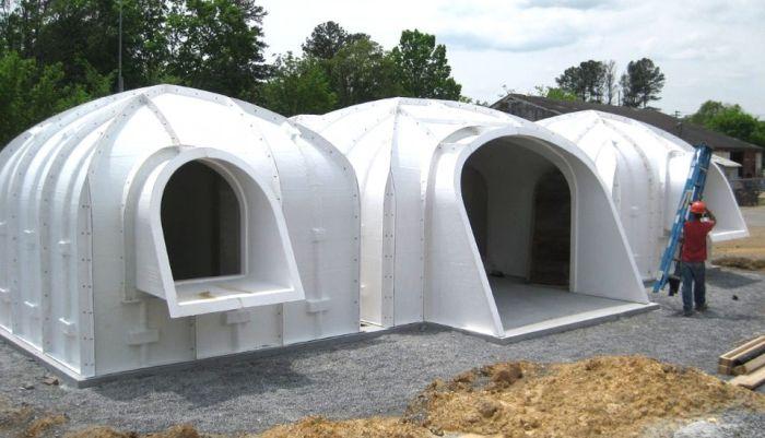 Модульные дома в стиле жилищ хоббитов