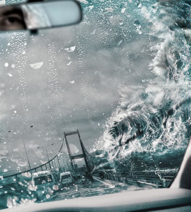 Сюрреалистичные коллажи Хусейна Сахина из настоящих фото (19 фото)