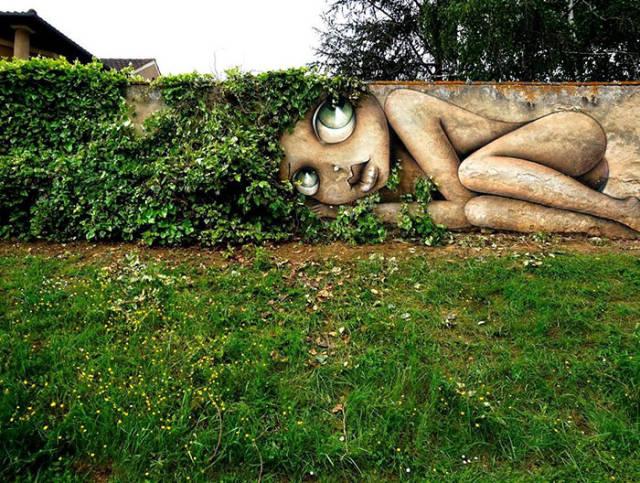 Природа и уличное искусство! Очень круто...