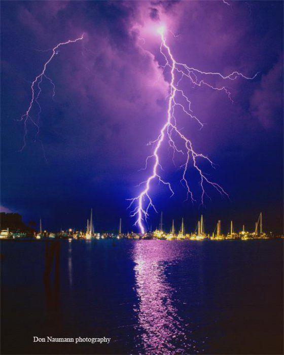 Редкие и удивительные фото молнии Дона Наумана