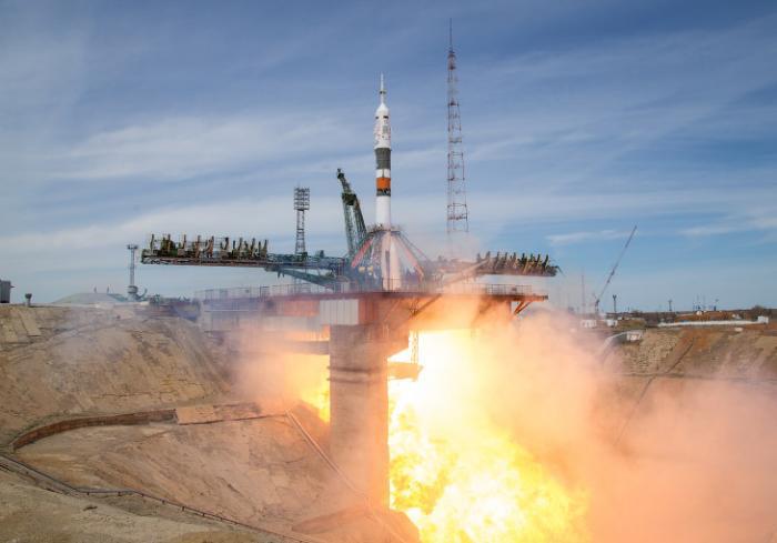 Красивые снимки со старта космического корабля «Союз МС-04»