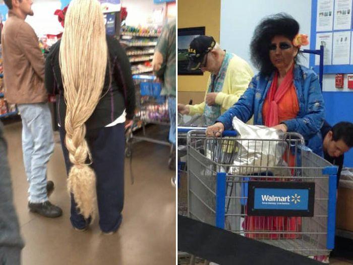 Смешные люди из супермаркетов, очередная порция чудиков!!!
