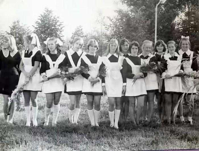 Фото выпускниц в 70-е годы
