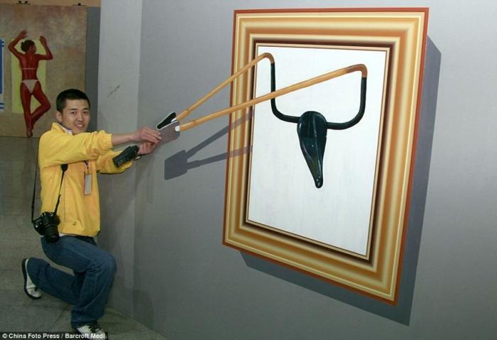 Выставка 3D картин в Китае (10 фото)