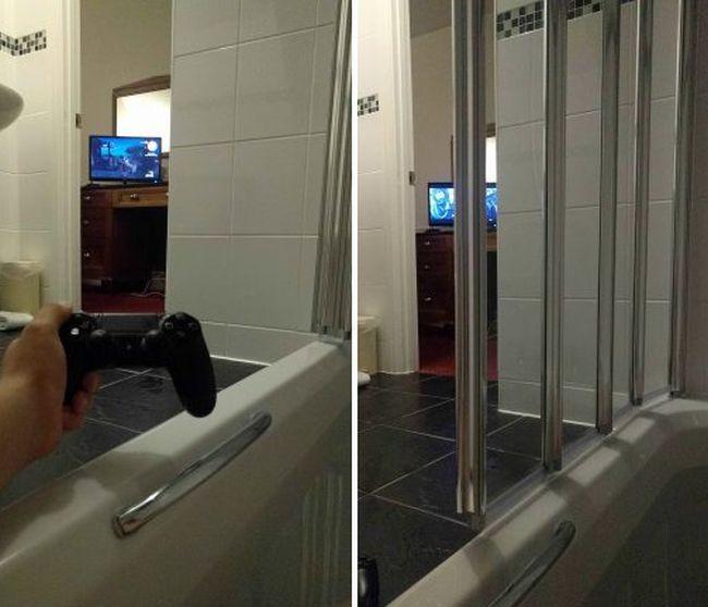 Необычные ванные комнаты в британском отеле (3 фото)