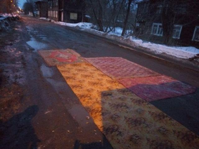 Ямочный ремонт дорог своими силами (14 фото)