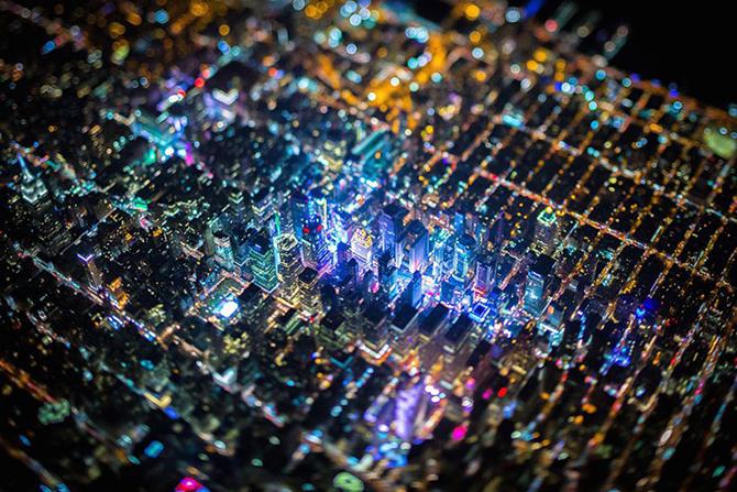 Самые удивительные аэрофотоснимки ночного Нью-Йорка (10 фото)
