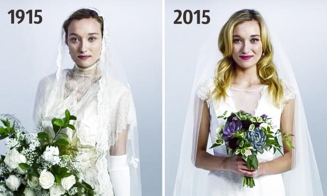 Как изменилась свадебная мода (12 фото)
