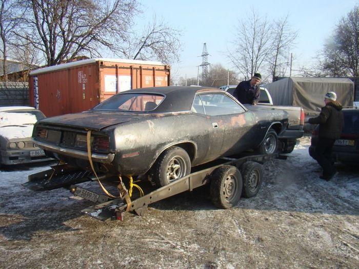 Фотоотчет о восстановлении мускул кара Plymouth Barracuda 1970 года (23 фото)